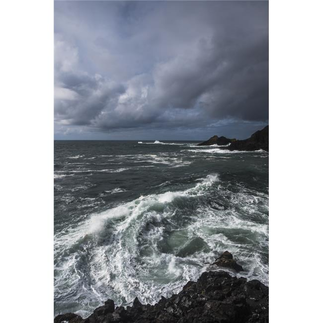 Posterazzi DPI12276065 Surf Breaks on A Stormy Afternoon - Manzanita Oregon United States of America Poster Print - 12 x 19 in. - image 1 of 1