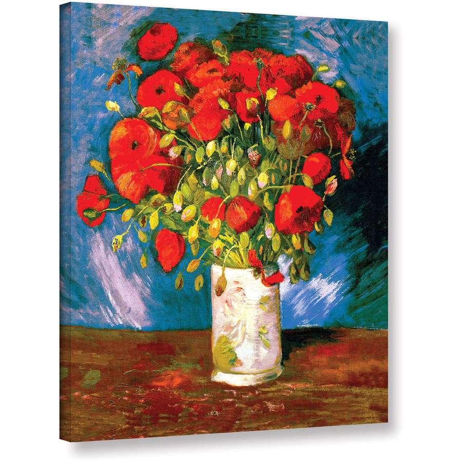 "Vangogh ""Poppies"" Wrapped Canvas Art"