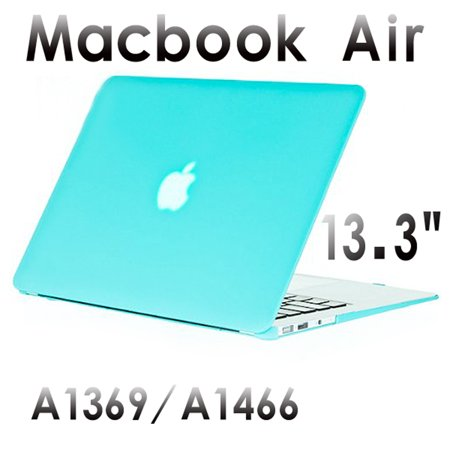 (AGPtek Macbook Air 13.3 inch Case/Cover with Keyboard Cover Skin Screen Protector 3in1 Rubberized for A1369 A1466)