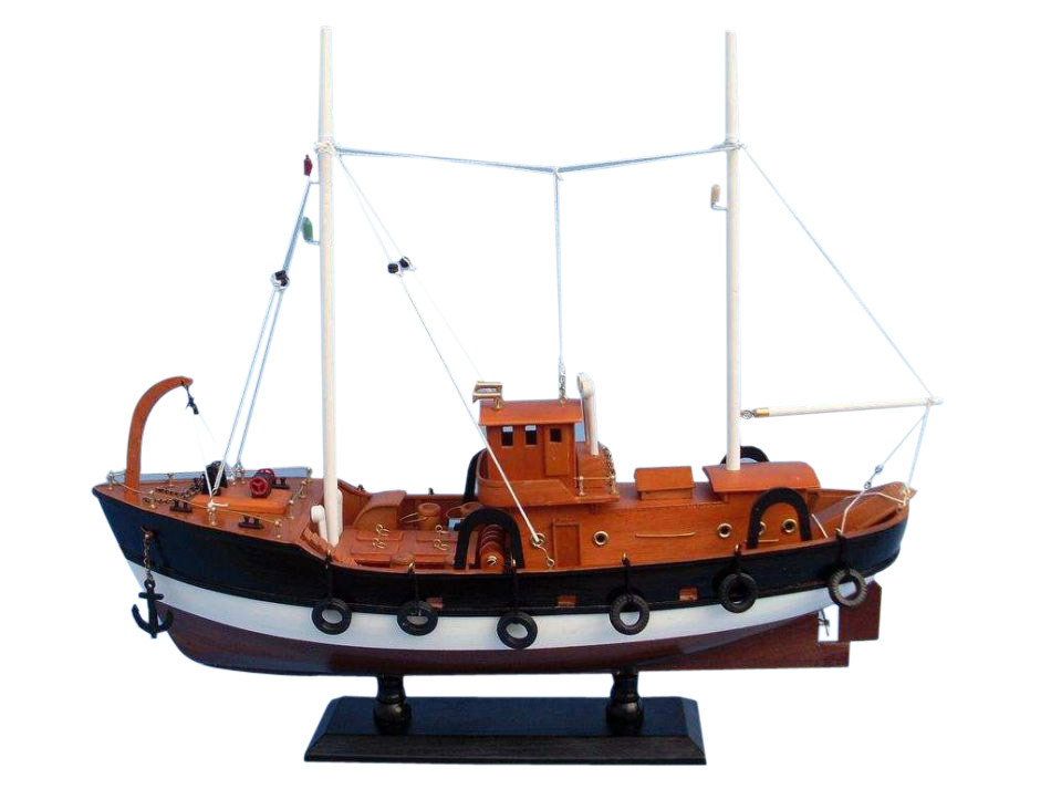 """Wooden Fish Tank Model Boat 20"""" by Handcrafted Nautical Decor"""