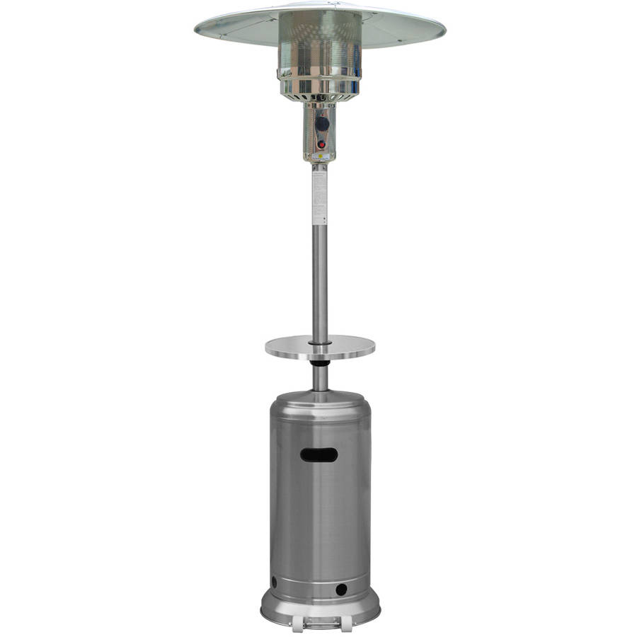 Hiland Tall Hammered Bronze Patio Heater With Table   Walmart.com