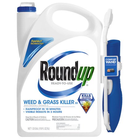 Roundup Weed & Grass Killer III Wand Comfort Wand Ready-To-Use 1.33 (Best Grass Killer For Flower Beds)