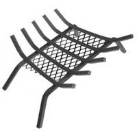 Landmann Steel Fireplace Grate (LANDMANN USA 97275 1/2 STEEL FIREPLACE GRATE WITH EMBER RETAINER, 27, 5)