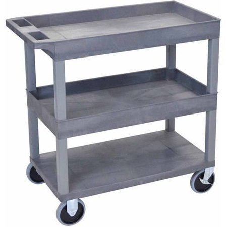 Luxor HD High Capacity Cart with 2 Tub and 1 Flat Shelf