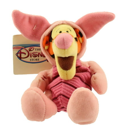 Disney Bean Bag Plush - TIGGER AS PIGLET (Winnie the Pooh) (8 inch) - My Friends Tigger And Pooh Piglet