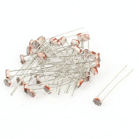 Unique Bargains 30 Pcs Photoresistor LDR 2Pin Light Dependent Sensor ...