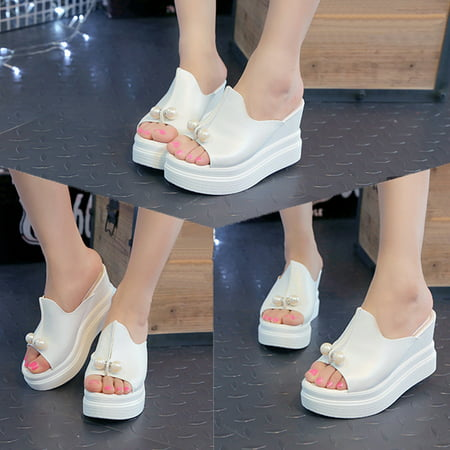 Meigar Women High Heel Sandals Slippers Open Toe Platform Shoes - Slipper Heels Shoes