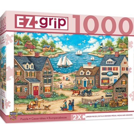 1000pc EZGrip Mr. Wiggins Whirligigs Large 1000 Piece Jigsaw Puzzle by Bonnie White (1000 Piece Large Puzzle)