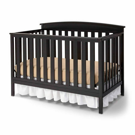 . Delta Children Gateway 4 in 1 Convertible Crib Black   Walmart com