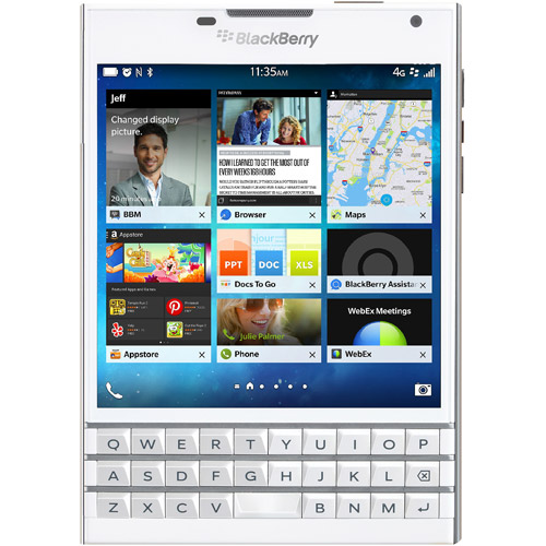 BlackBerry Passport GSM BlackBerry 10.3 OS Smartphone (Unlocked), White