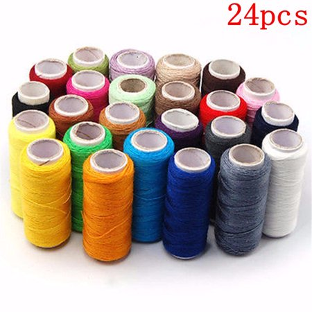 Meigar Spool Sewing Thread Assortment Coil 24 Color 220 Yards Each Polyester Thread Sewing Kit All Purpose Polyester Thread for Hand and Machine Sewing Special - Polyester Sewing Thread