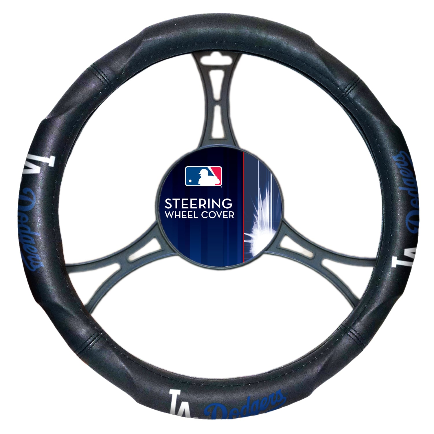 "MLB Los Angeles Dodgers Steering Wheel Cover (Made to fit 14.5""-15.5"" steering wheels"