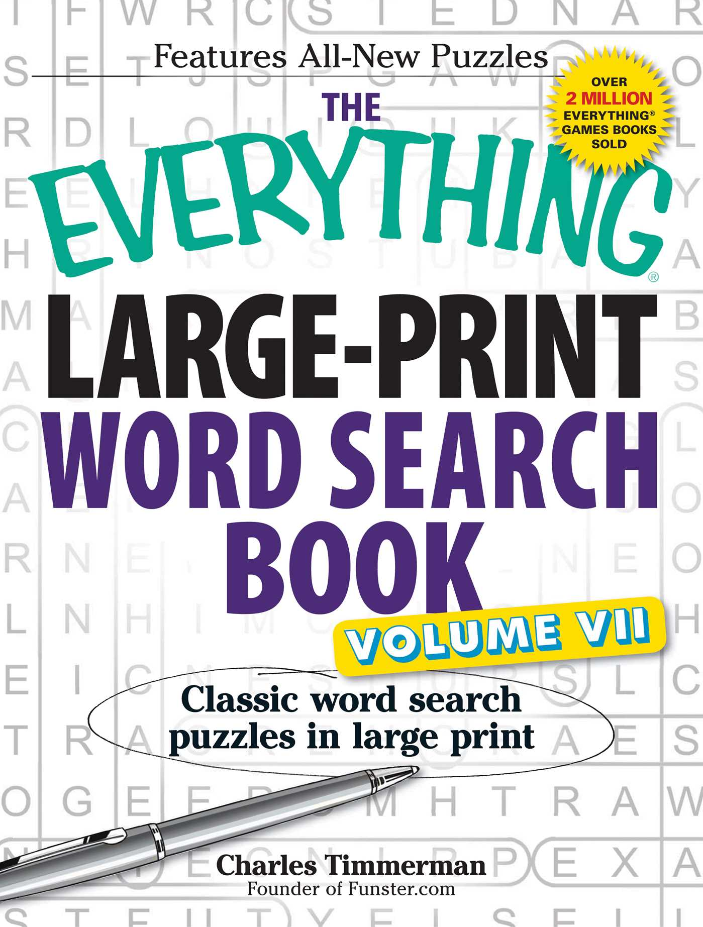 picture regarding Large Printable Word Search called The Just about anything Significant-Print Phrase Seem Ebook, Sum VII : Clic term glance puzzles inside heavy print