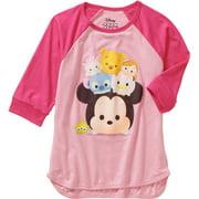 Girls' Character Stack 3/4 Sleeve Raglan T-shirt