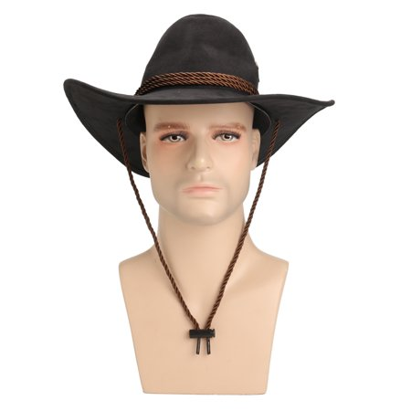 Hero Style Retro Black Western Cowboy Cowgirl Hat Men Women Riding Cap Wide Brim - image 2 of 6