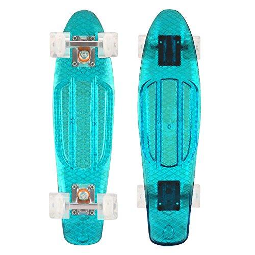 "MAYHEM Penny Style Clear Baby Blue 22"" Skateboard"