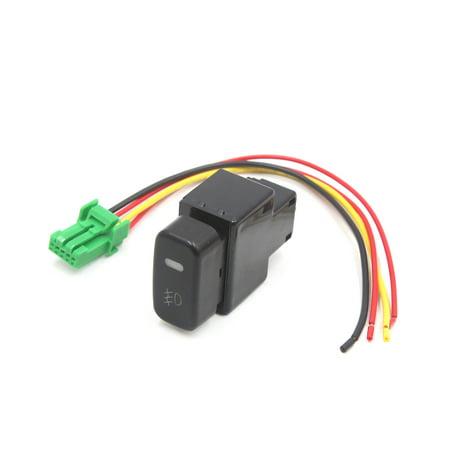 Black Plastic Shell 5 Pin Push Button Car Fog Light Switch for  Galant