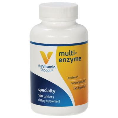- Multi Enzyme  Helps Support The Digestion  Absorption of Protein, Carbs  Fat (100 Tablets) by The Vitamin Shoppe
