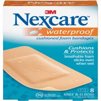 Nexcare Active Waterproof Bandages, Knee and Elbow, 8 Count