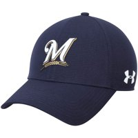 a738f9b2377 Product Image Milwaukee Brewers Under Armour MLB Driver Cap 2.0 Adjustable  Hat - Navy - OSFA
