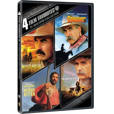 4 Film Favorites  Tv Western Collection   Monte Walsh   Conagher   Last Stand At Saber River   You Know My Name