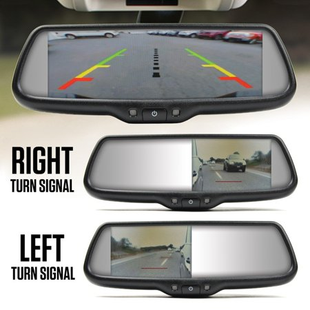 Camera Mirror (Brandmotion Dual Camera Blind Spot Monitoring System w/ 7.3