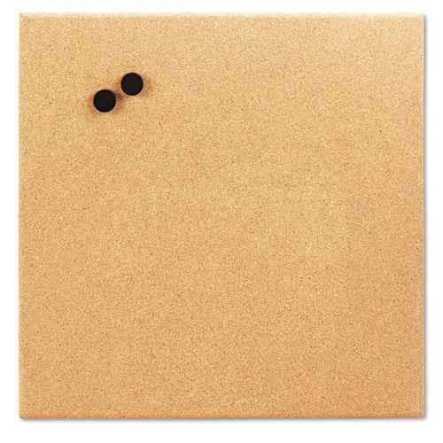 "The Board Dudes Combination Magnetic Canvas Cork Board, 17"" x 17"", Unframed Cork"