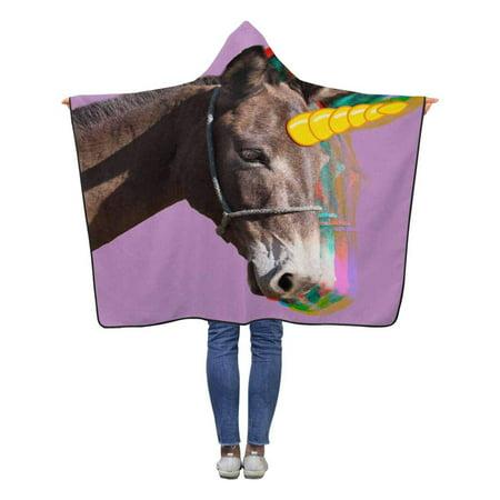 ASHLEIGH Magical Unicorn Hooded Blanket 40x50 inches Toddler Kid Baby Boys Girls Polar Fleece Blankets Throw Wrap