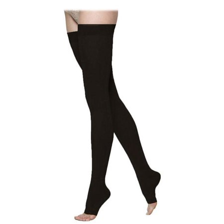 972 Access Open Toe Thighs Highs w/ Grip Top - 20-30 mmHg Short