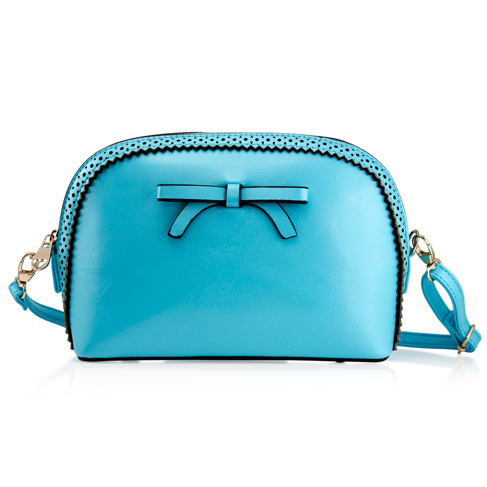 Fashion Women Handbag Bow Tie Shoulder Bags Tote Crossbody Satchel Purse PU Leather Lady Messenger Hobo Bag (Motheri s day Gift) - Light Blue