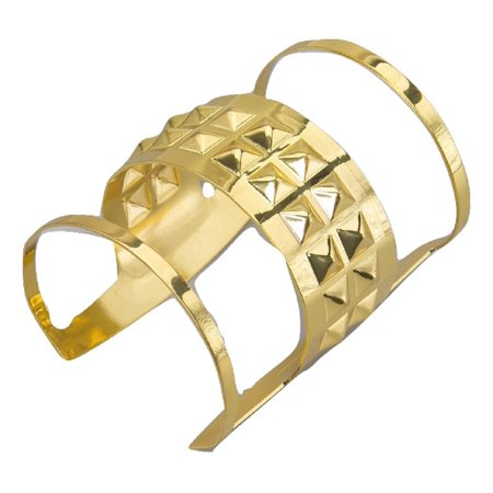 Gold Queens Bangle Bracelet Wrist Cuff Greek Goddess Egyptian Costume Accessory (Egyptian Costume)