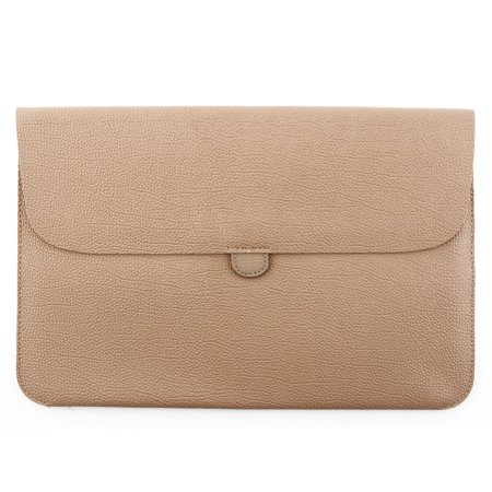 Solo 15.4 Leather Laptop - PC Notebook PU Leather Protective Laptop Sleeve Tan Color for MacBook 15.4 Inch