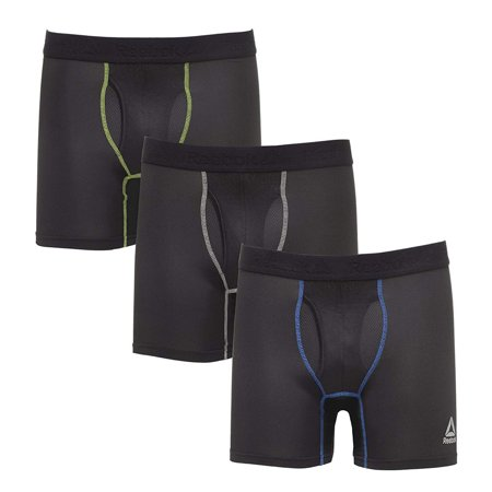 Reebok Mens Performance Boxer Briefs - 3 pack