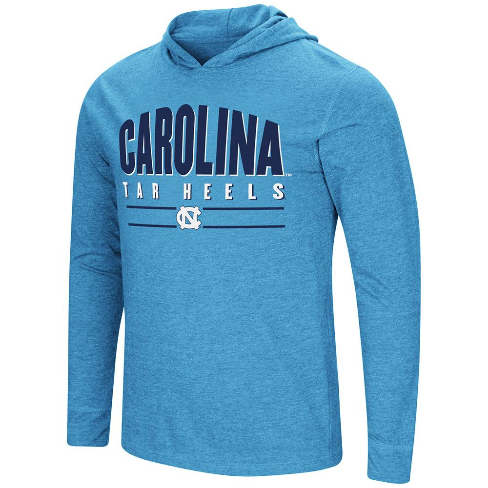 Mens UNC North Carolina Tar Heels Long Sleeve Tee Shirt Hoodie - S
