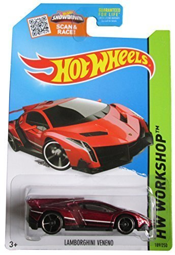 Hot Wheels 2015 HW Workshop Lamborghini Veneno Red 1:64 Scale Collectible Die Cast Metal... by Hot Wheels