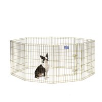 MidWest Homes For Pets Metal Exercise Dog Playpen No Door, Gold