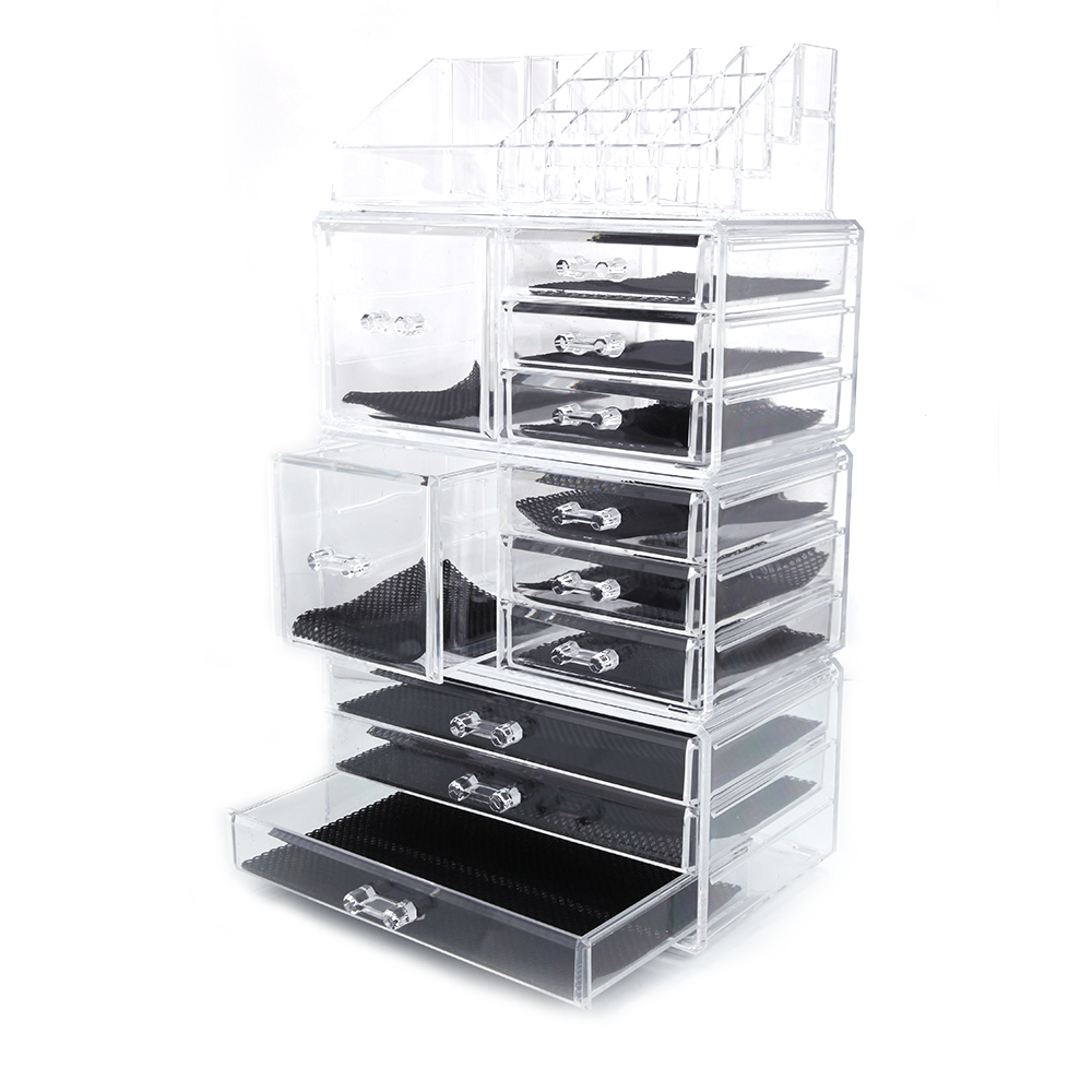 Ktaxon Acrylic Cosmetic Tower Organizer Makeup Holder Case Box