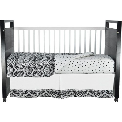 Seed Sprout - Damask Crib Bedding 3-Piece Set