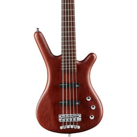 Bass Natural Satin - Warwick German Pro Series Corvette Bubinga Passive 5-String Electric Bass Guitar Natural Satin