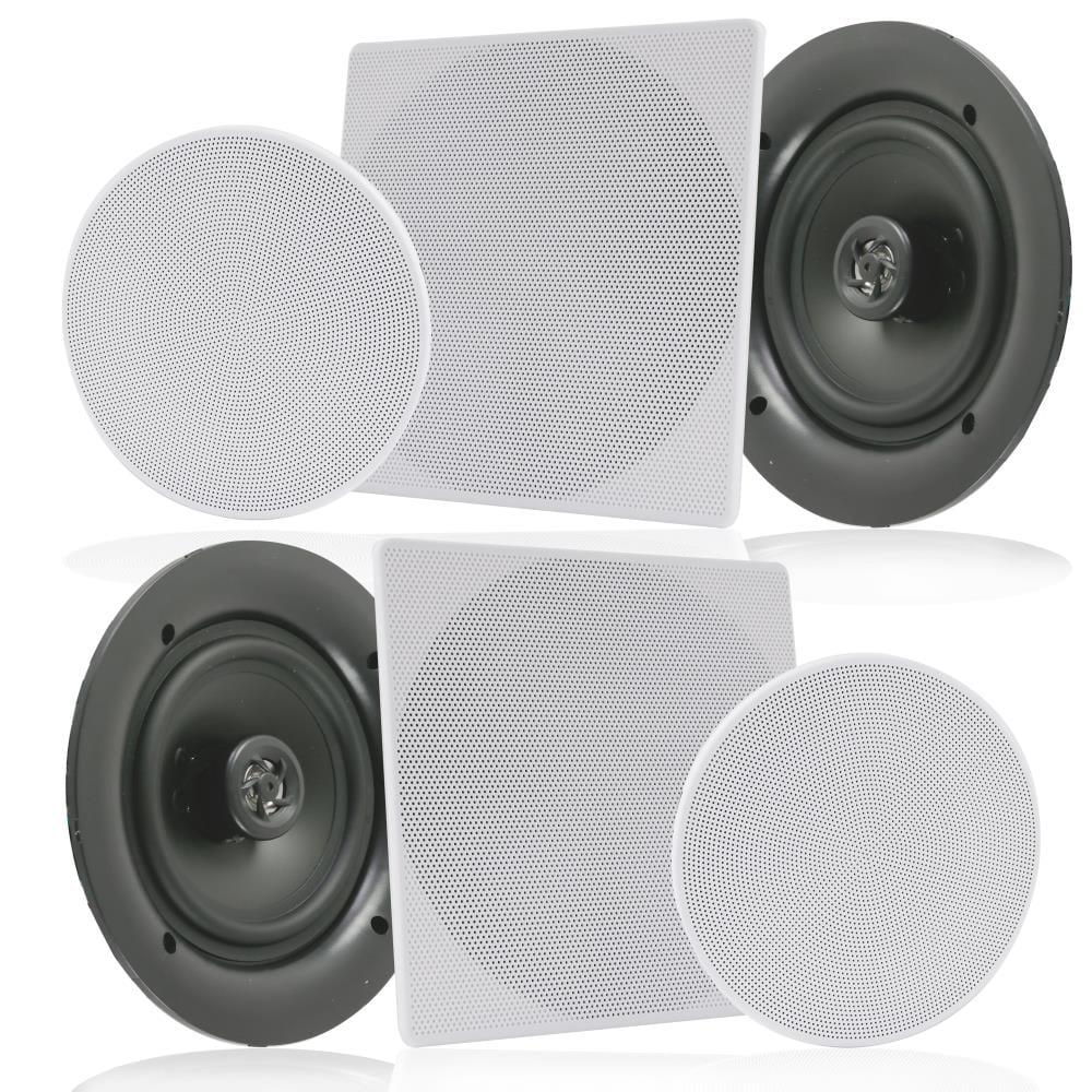 "LOT OF 5.25/"" Pyle PDIC1656 In-Ceiling Speaker,2 Way Flush Mount Home Speaker 6"