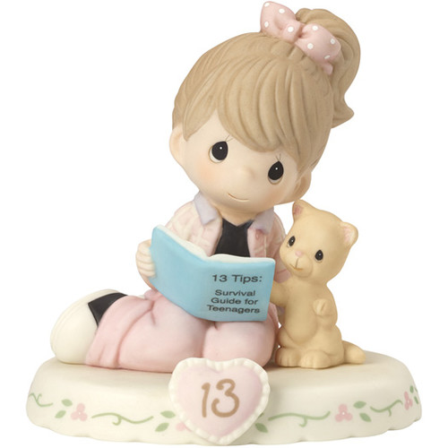 Precious Moments Growing in Grace, Age 13 Brunette Figurine by Precious Moments