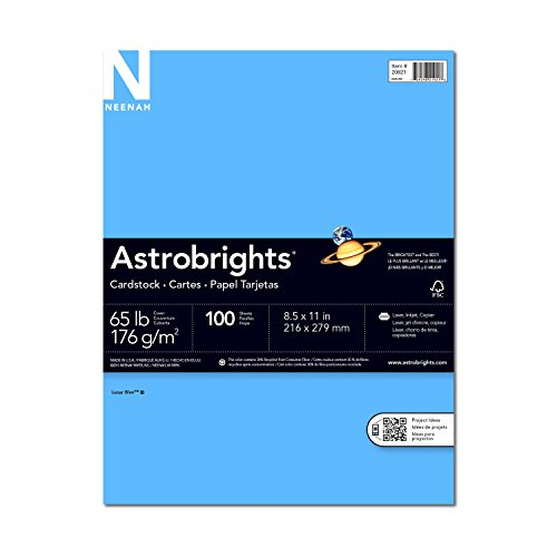 Wausau Astrobrights Premium Cardstock, 8.5 X 11 Inches, Solar Yellow, 100 Count (20931)