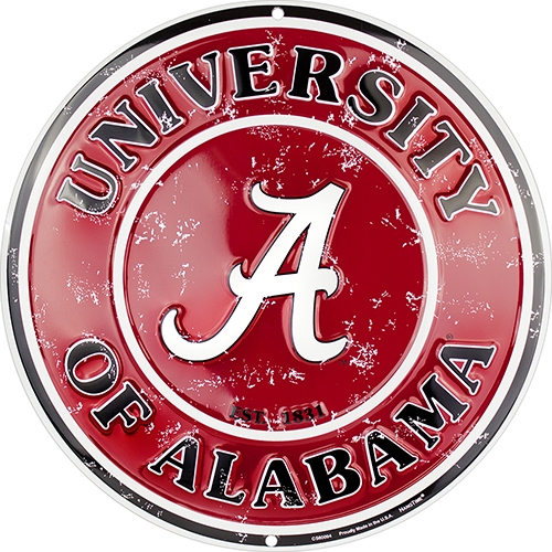 Alabama Crimson Tide Circle Sign