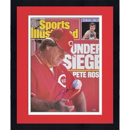 "Framed Pete Rose Cincinnati Reds Sports Illustrated Cover Autographed 16"" x 20"" Photograph Fanatics Authentic Certified by"