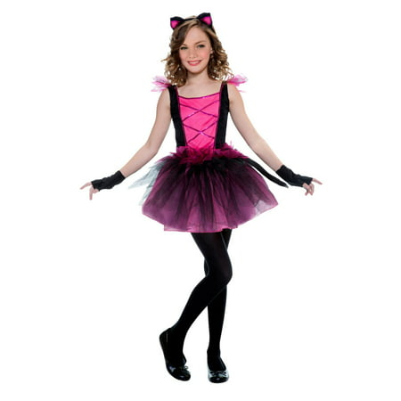 Girls Pink Sweetie Cat Costume Kitty Tutu Dress
