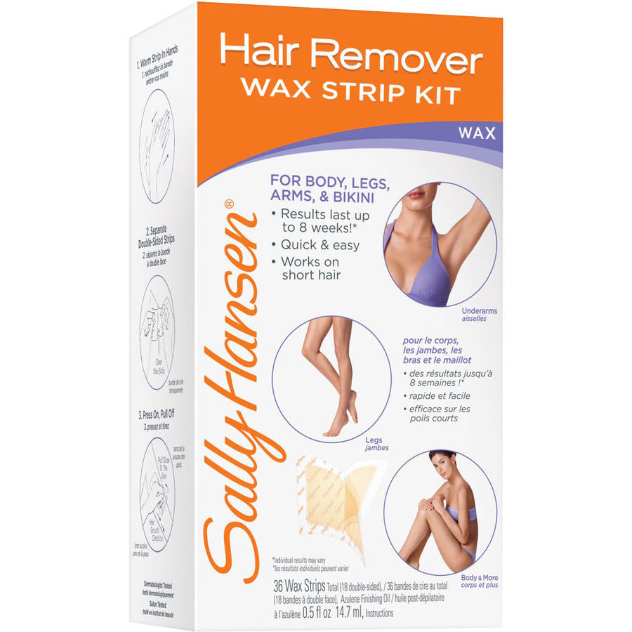 Sally Hansen Hair Removal Wax Strips, 30ct