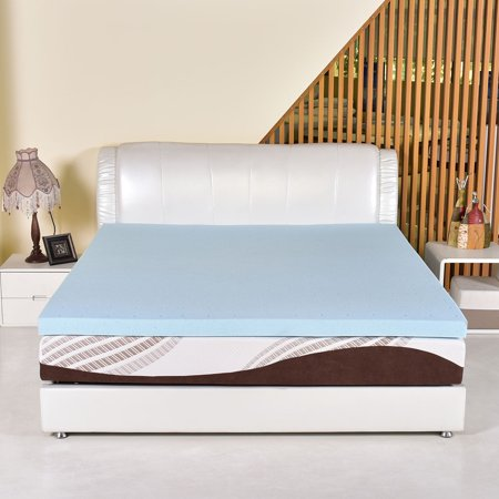 Foam Mattress Bed Pad - Costway King Size 3'' Gel Memory Foam Mattress Mat Bed Pad Topper Furniture