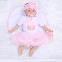 Reborn Toddler Baby Doll Artificial Girl 22 Inch Vinyl Silicone Lifelike Toy