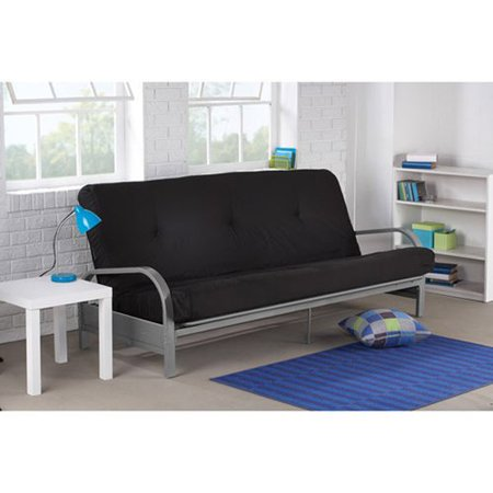 mainstays metal arm futon in black color