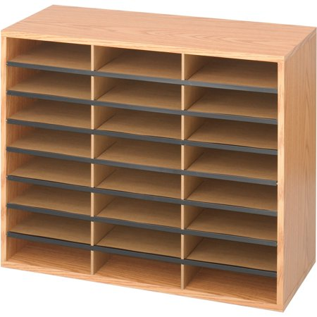 Safco, SAF9402MO, Laminte Literature Organizer, 1 Each, Medium Oak